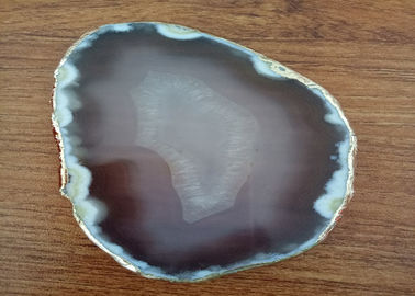 Chiny Natural Colour Polished Agate Slices, Stone For Crafts Gold Coast Coasters fabryka